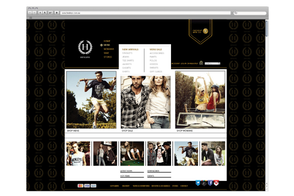henleys website design HTML5