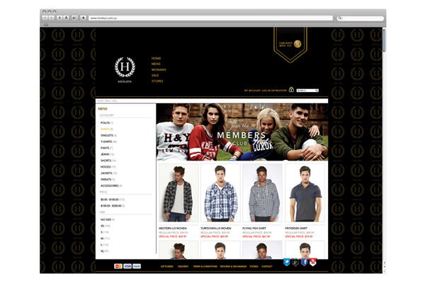 henleys website design concepts
