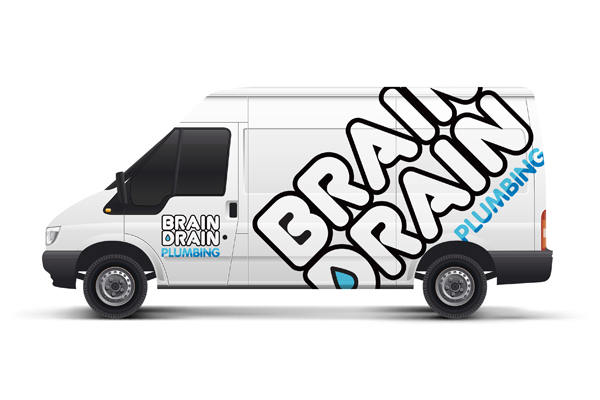 plumbers van vehicle graphic