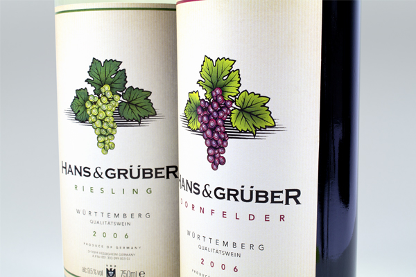 Hanz & Gruber - german wine label design