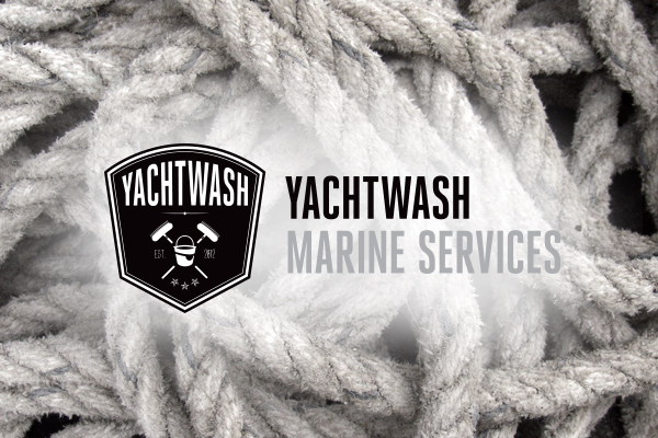 boat cleaning company logo design