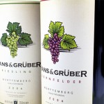 german wine label - hans and Hanz& gruber