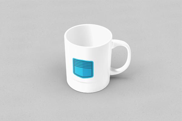 platform box design logo on coffee cup