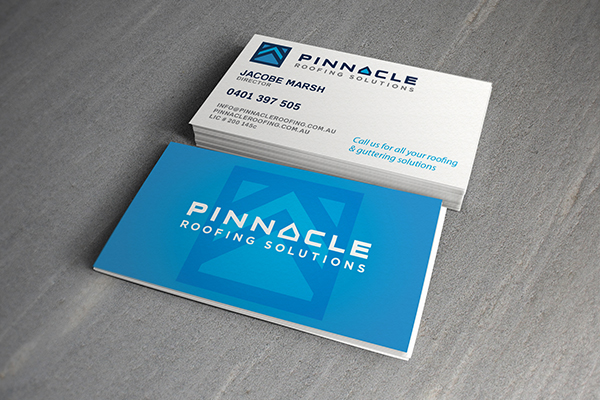 roofing company business card design