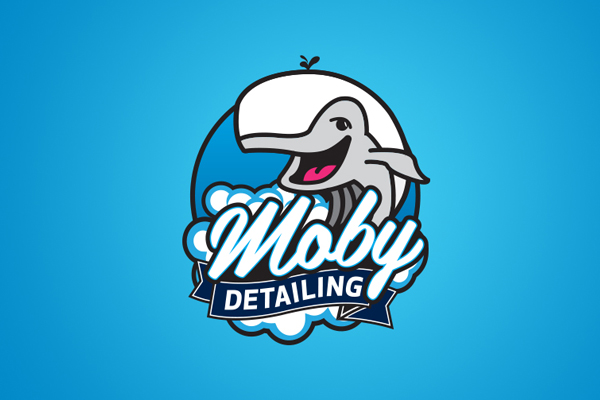 boat detailing company logo moby dick